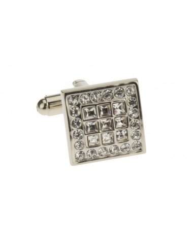 Multi Crystal High Silver Polished Mens  - Image1