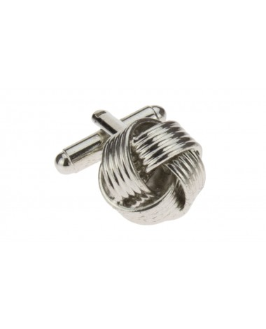 Timeless Knot Cufflinks Silver Plated Cu - Image1