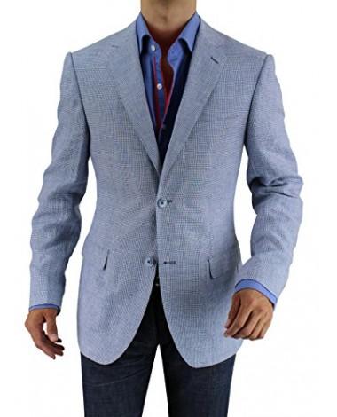 Luciano Natazzi Men's Wool Cashmere Tick - Image1