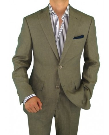 Luciano Natazzi Men's Two Button Navy St - Image1