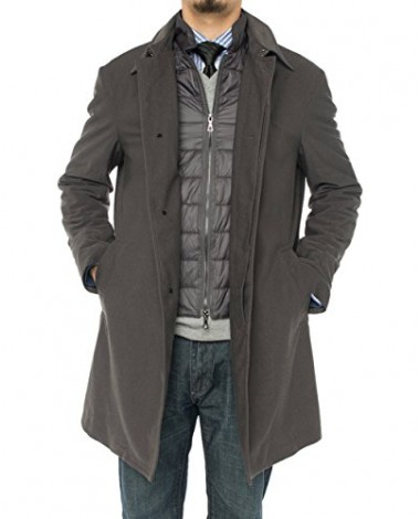 Luciano Natazzi Men's Modern Fit Insulat - Image1
