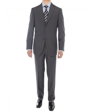 Luciano Natazzi Men's Two Button Side Ve - Image1