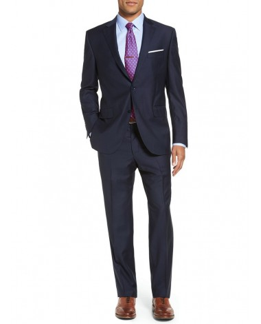 Luciano Natazzi Men's Modern Fit Two But - Image1