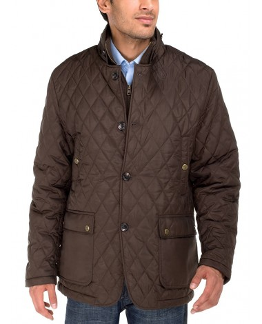 Luciano Natazzi Men's Quilted Puffer Jac - Image1