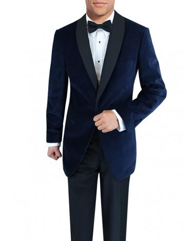 Mens One Button Shawl Lapel Velvet Tuxed - Image1