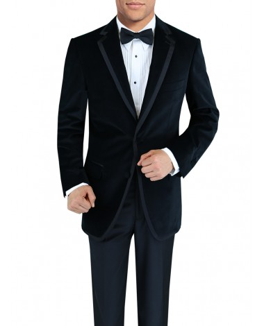 Mens Two Button Side-Vent Velvet Tuxedo  - Image1