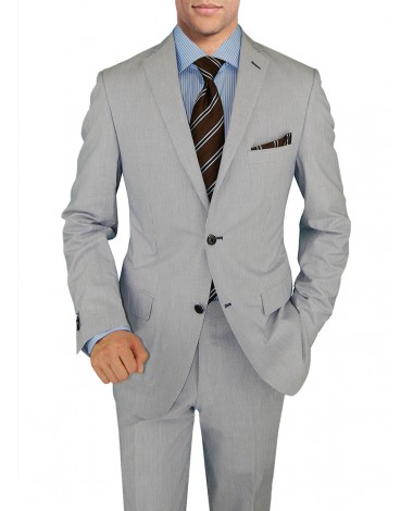 Mens Suit Two Button Trim Fit Center Ven - Image1