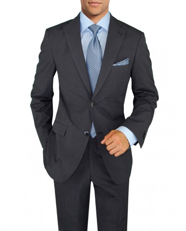 Mens Suit New Two Button Trim Fit Side V - Image1