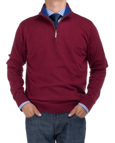 Mens BB Signature Mock Neck 1/4 Zip Swea - Image1