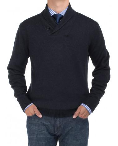 Mens BB Signature Cotton Shawl Collar Sw - Image1