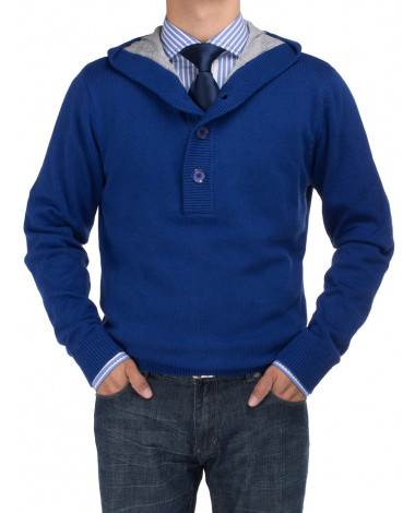 Mens BB Signature 1/4 Button Sweater Wit - Image1