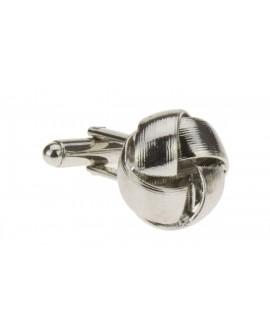 Stunning Knot Cufflinks Silver Plated Cu - Image1