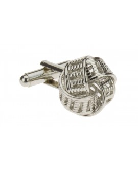 Classic Love Knot Cufflinks Silver Plate - Image1