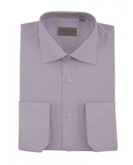 Mens Dress Shirt Spread Collar Cotton Co - Image1
