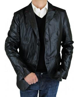 Luciano Natazzi Men's Leather Jacket Mod - Image1
