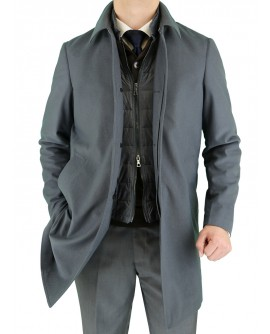 Luciano Natazzi Men's Fitted Walker Coat - Image1