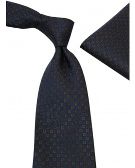 100% Woven Mens Neck Tie Pocket Square H - Image1
