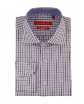 Gino Valentino Mens Check Dress Shirt Co - Image1