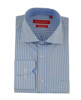 Gino Valentino Mens Striped Dress Shirt  - Image1