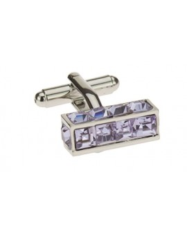 Modern Crystal Men's Cufflinks High Poli - Image1