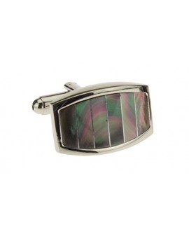 Mother of Pearl Mens Cufflinks with Gift - Image1