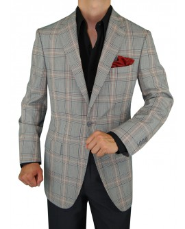 Gino Valentino 1 Button Jacket Windowpan - Image1