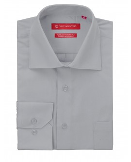 Gino Valentino Men's Dress Shirt Pure Co - Image1