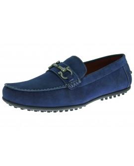 Natazzi Mens Suede Leather Shoe Kimo Sli - Image1