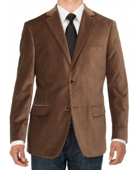 Luciano Natazzi Mens Two Button Velvet B - Image1