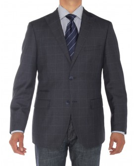 Luciano Natazzi Mens Two Button Ticket P - Image1