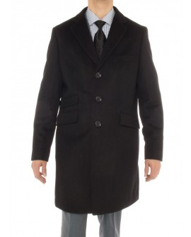 Luciano Natazzi Men's Cashmere Topcoat M - Image1