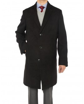 Luciano Natazzi Men's Trend Fit Overcoat - Image1
