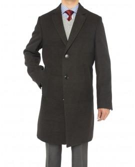 Luciano Natazzi Men's Trend Fit Overcoat - Image1