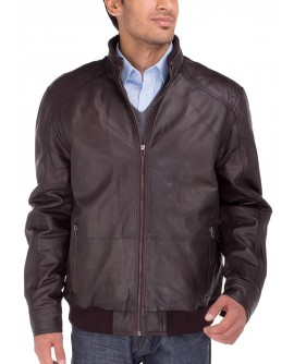 Luciano Natazzi Men's Lambskin Leather V - Image1