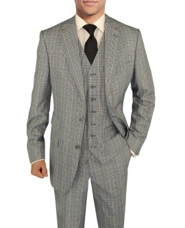 Mens Suit Vested Modern Fit 3-Piece Blaz - Image1