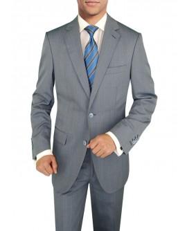 Mens 3 Piece Suit Side-Vent Jacket Flat  - Image1