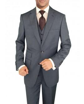 Mens Suit 3 Piece Vested Ticket Pocket J - Image1