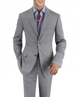 Mens Linen Suit Modern Fit Two-Button Ja - Image1