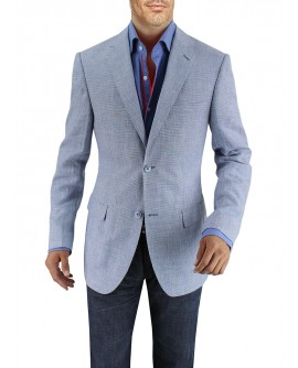 Mens Two Button Linen Blazer Modern Fit  - Image1