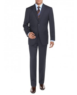 Mens Suit Sharkskin Two Button Jacket Mo - Image1