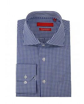 Mens GV Executive Check Dress Shirt Cott - Image1