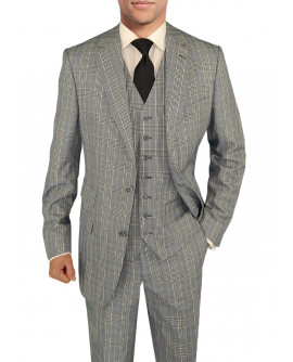 Mens BB Signature Suit Vested Modern Fit - Image1