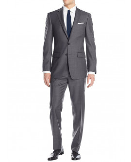 Luciano Natazzi Men's Two Button Suit Mo - Image1