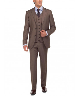 Mens LN Tweed Vested Suit Set Two Button - Image1