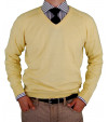 Mens LN V-Neck Cotton Sweater Cashmere T - Image1