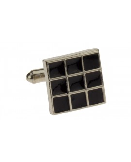 Classic Black Cufflinks Stainless Steel  - Image1