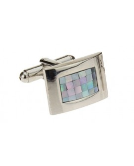 Mother of Pearl Mosaic Mens Cufflinks St - Image1