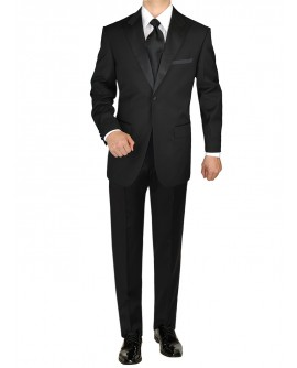 Giorgio Napoli Men's Tuxedo Suit 1 Butto - Image1