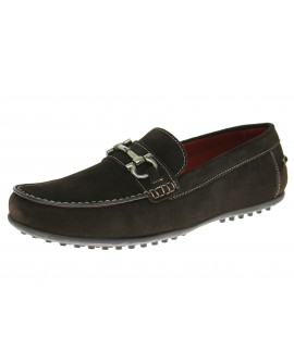 Natazzi Mens Suede Leather Shoe Kimo Sli - Image1