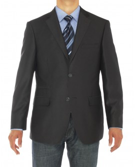 Luciano Natazzi Mens Two Button Notch La - Image1